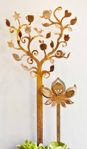 Apple Tree with lotus flower by Anna Small